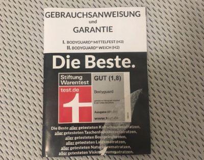 Bodyguard Matratze Testsieger Stiftung